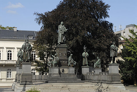 Das Lutherdenkmal in Worms