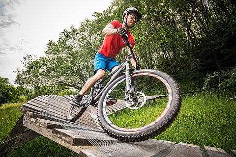 Mountainbike Action in der Eifel