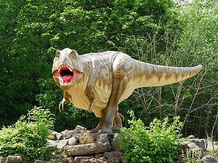 Dinosaurierpark in der Teufelsschlucht
