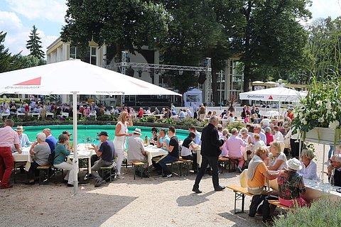 Der Köchemarkt im Kurpark von Bad Neuenahr-Ahrweiler