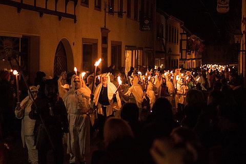Der Geisterumzug zum Karneval in Blankenheim an der Ahr