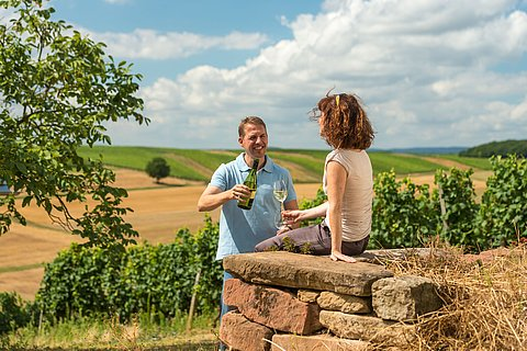 Weingenuss mitten in den Weinlagen, Nahe