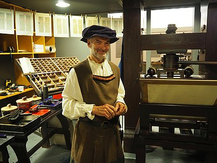 Kostümführung im Gutenberg-Museum Mainz, Rheinhessen
